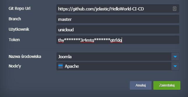 Git-push-deploy-UniCloud
