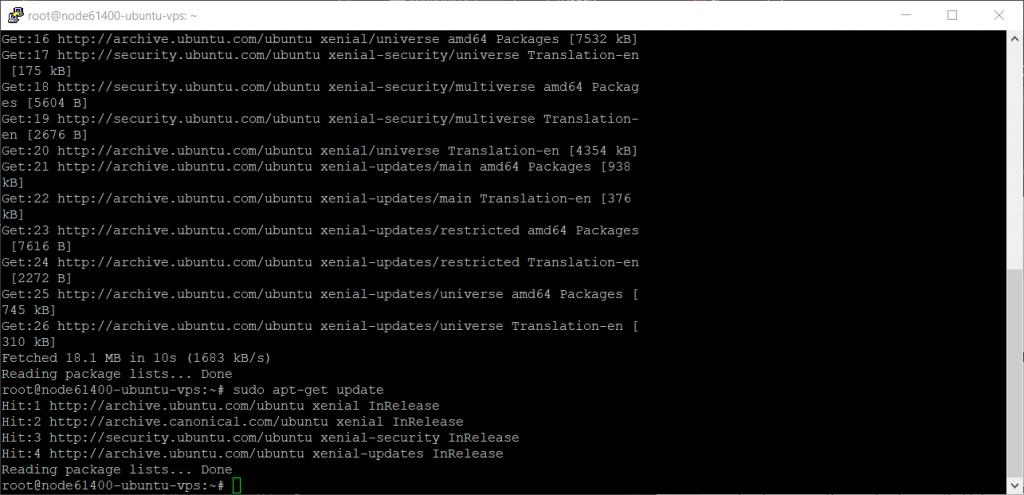Aktualizacja pakietów VPS Ubuntu